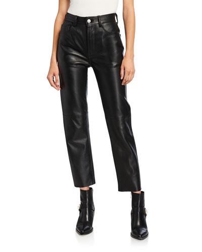 50s Leather Cigarette Pants