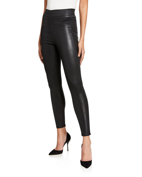 L'Agence Rochelle Coated Pull-On Jeans