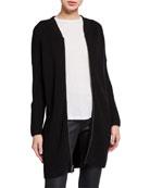Eileen Fisher Merino Wool Zip-Front Long Cardigan and