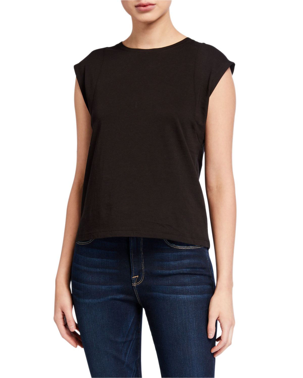 Frame Tops LE HIGH-RISE MUSCLE TEE
