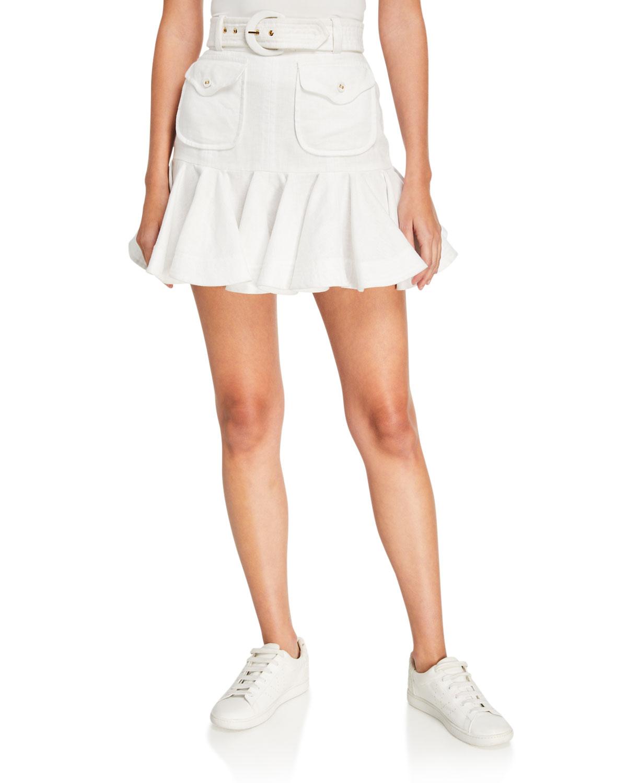 Zimmermann Skirts SUPER EIGHT LINEN SAFARI SKIRT