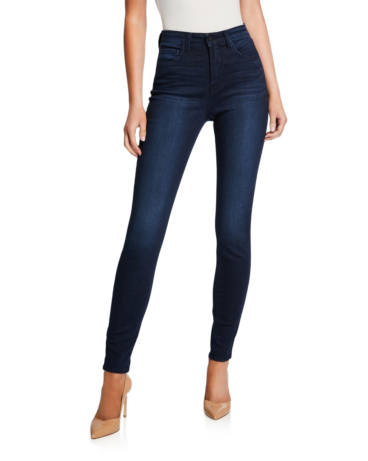 L'agence Jeans MARGUERITE HIGH-RISE ANKLE SKINNY JEANS