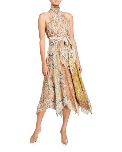 Freja Handkerchief-Hem Long Dress