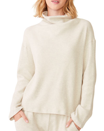 Cowl-Neck Long-Sleeve Pullover