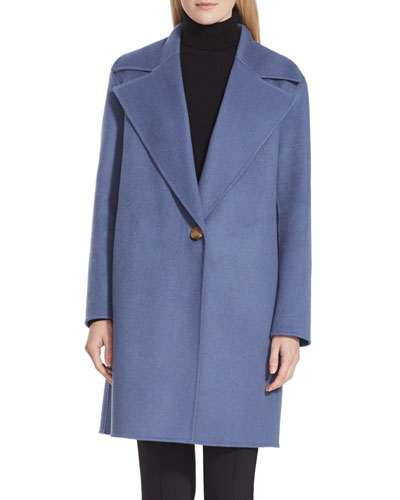Lebell One-Button Luxe Cashmere Coat