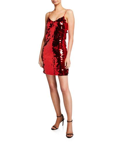 Paillette Slip Dress