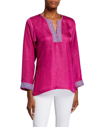 Ava Long-Sleeve Trimmed Tunic
