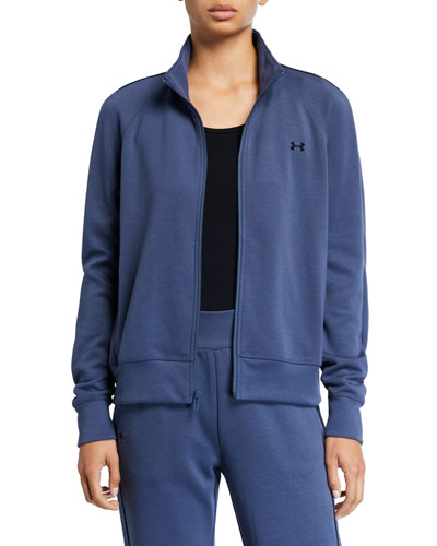 Double Knit Zip-Front Track Jacket