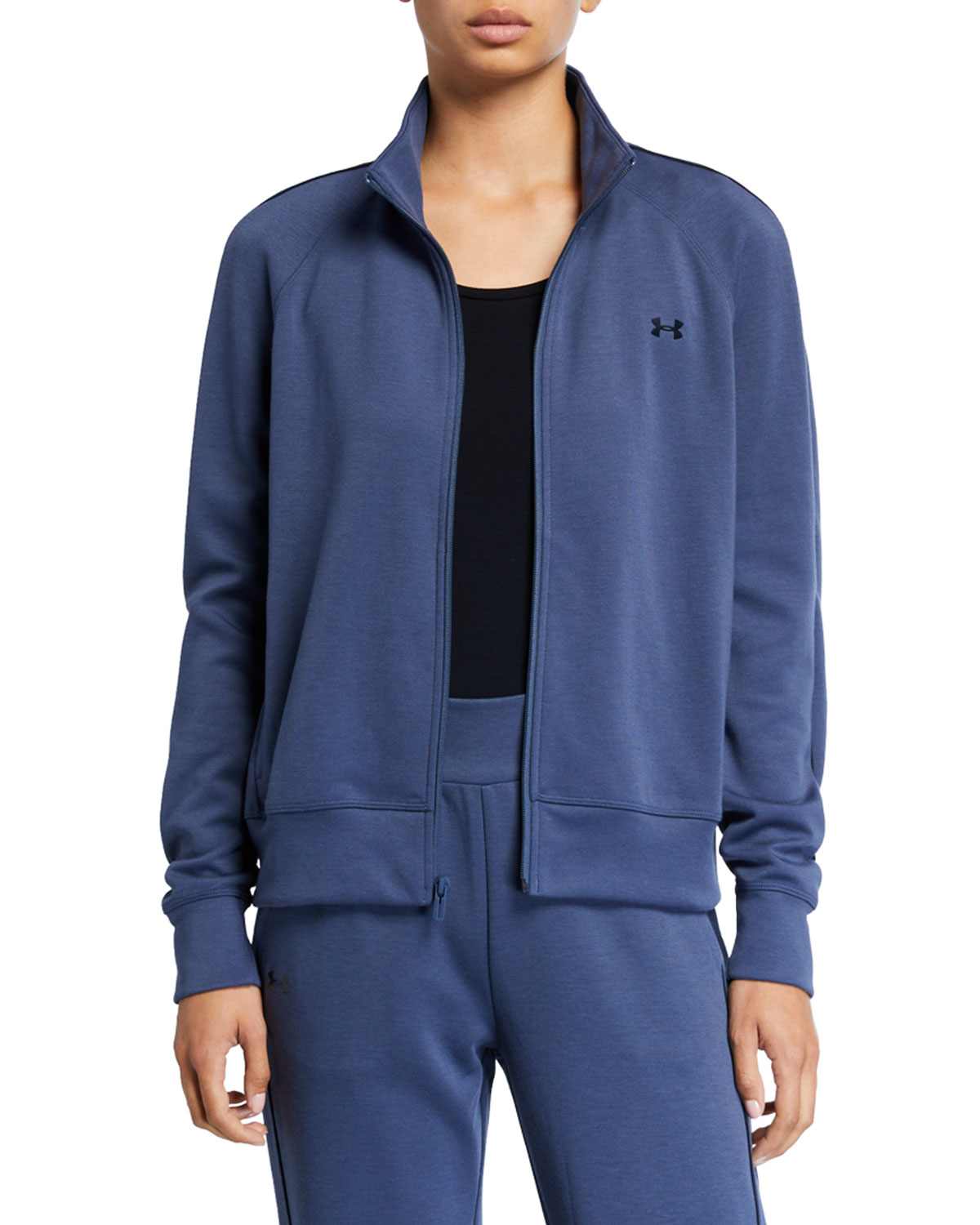 Under Armour Jackets DOUBLE KNIT ZIP-FRONT TRACK JACKET