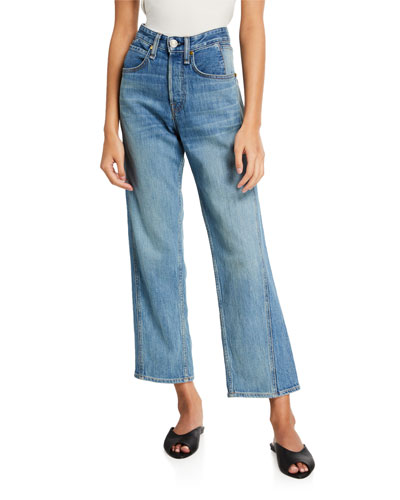 Maya High-Rise Ankle Straight-Leg Jeans