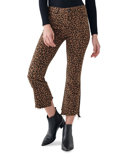 Bridget Crop High-Rise Boot-Cut Jeans
