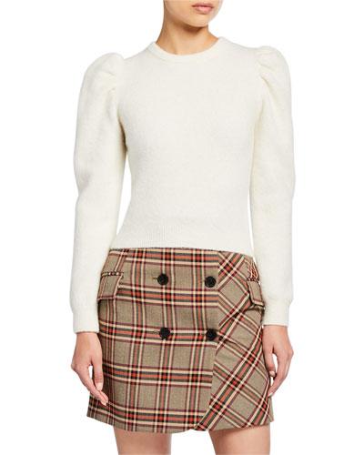 Puff-Sleeve Alpaca Sweater