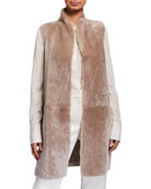 Gushlow and Cole Shearling & Knit Reversible Vest