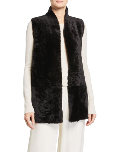 Mid Machine Knit Crombie Shearling Vest