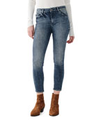 DL1961 Premium Denim Florence Crop Mid-Rise Skinny Jeans