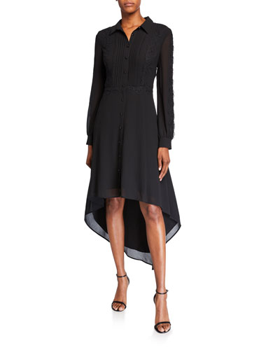 High-Low Georgette Shirtdress
