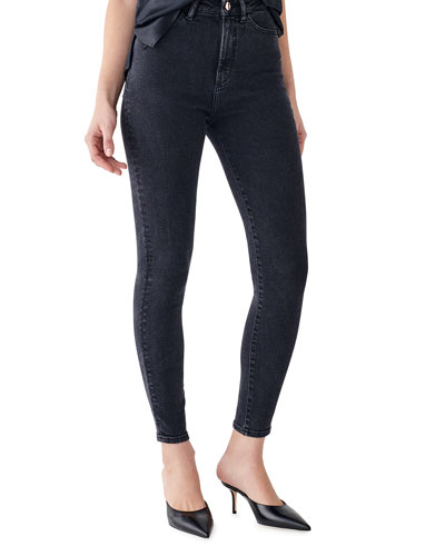 Chrissy Ankle Ultra High Rise Ankle Skinny Jeans