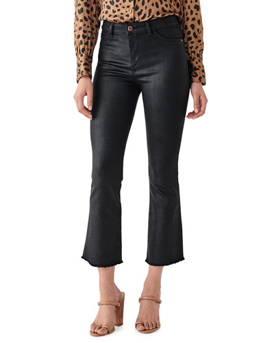 Bridget Crop High Rise Bootcut Jeans