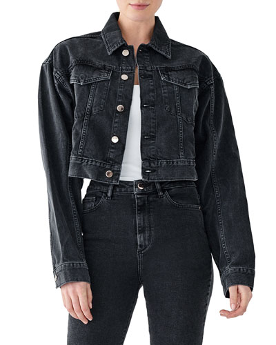 Annie Cropped Denim Jacket