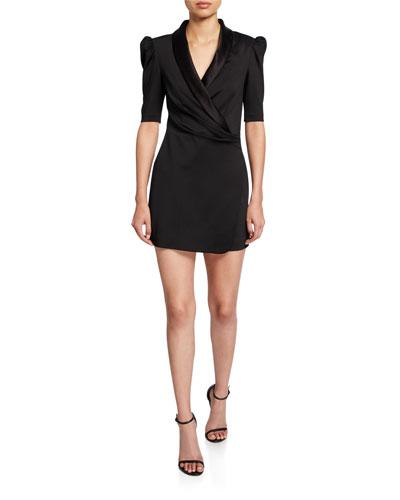 Remi V-Neck Faux-Wrap Dress