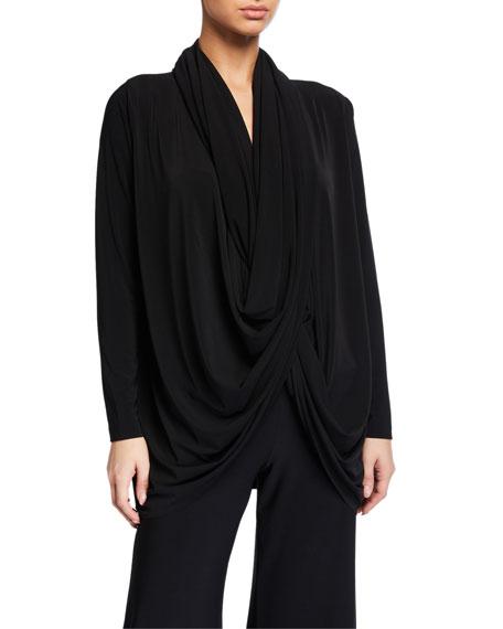 Norma Kamali Jersey Wrap Cardigan