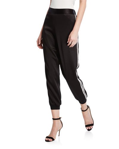 Pete Embellished Slouchy Pull-On Pants