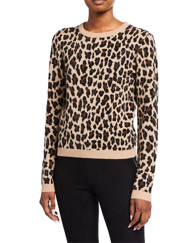 Connie Embellished Leopard Sweater