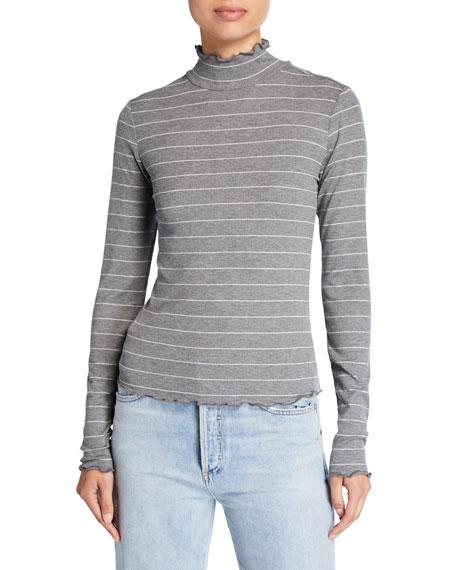 PAIGE Cadence Shimmer Turtleneck Sweater
