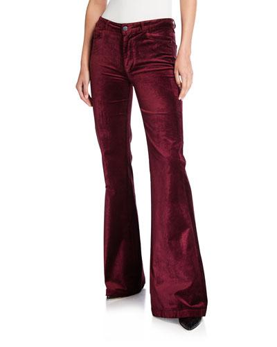 Genevieve Velvet Flare Pants