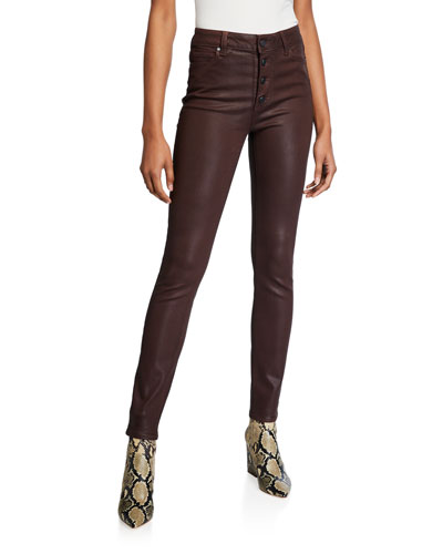 Hoxton Ultra-Skinny Coated Jeans