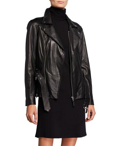 Dita Leather Moto Jacket