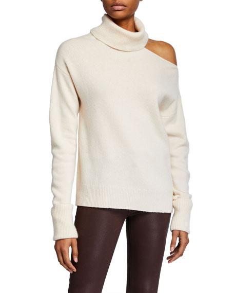 PAIGE Raundi Cold-Shoulder Wool Sweater