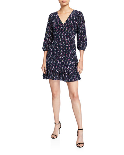 Bernadina Printed 3/4-Sleeve Dress