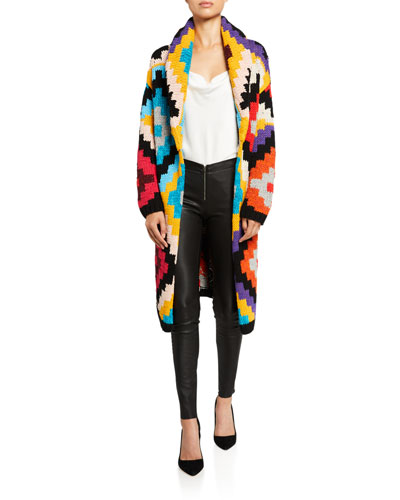 Astrid Shawl-Collar Long Cardigan