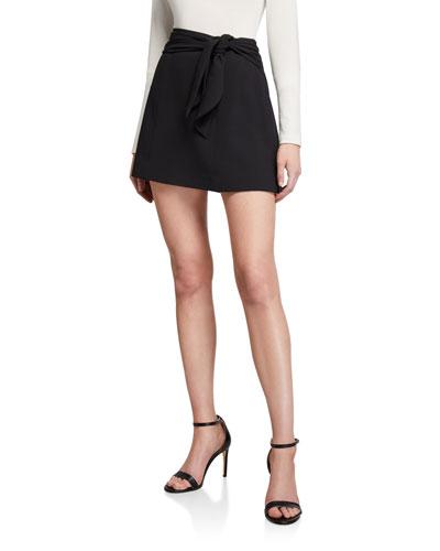 Mayson Tie-Waist Mini Skirt
