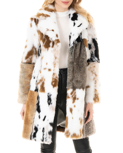 The Influencer Patchwork Faux-Fur Coat - Inclusive Sizing