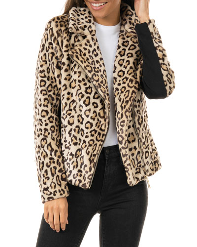Maven Faux-Fur Moto Jacket - Inclusive Sizing