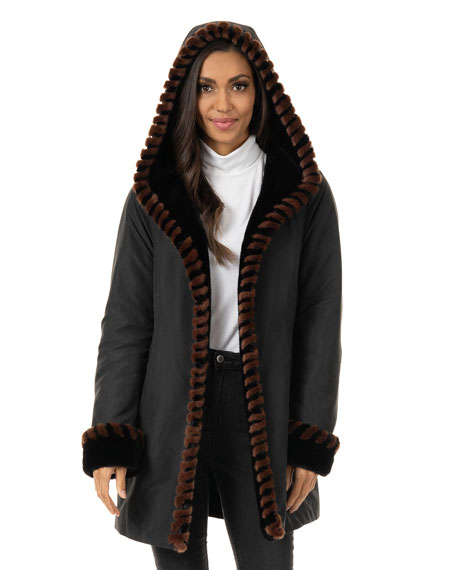Fabulous Furs Faux-Fur Trimmed Storm Coat - Inclusive Sizing