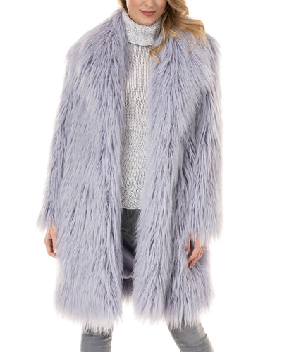 Daydreamer Tibetan Lamb Faux-Fur Coat - Inclusive Sizing
