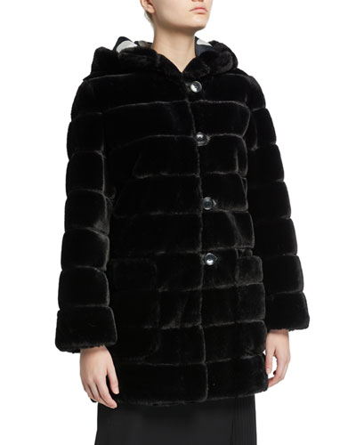 Valentine Faux Fur Hooded Coat