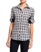 Finley Casey Charcoal Check Button-Down Combo Shirt w/