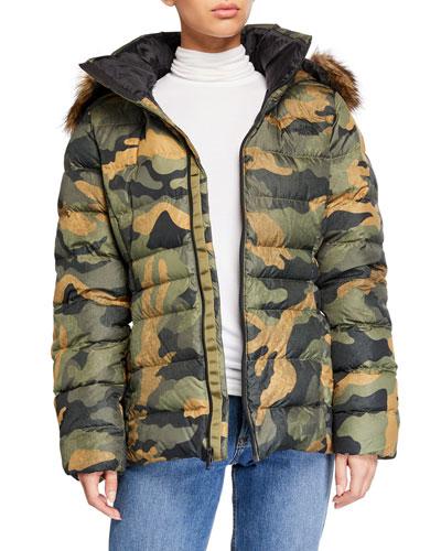 Gotham Jacket II w/ Faux-Fur Trim & Hood