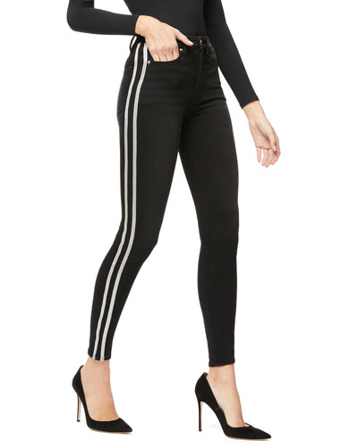 Good Legs Skinny Jeans w/ Athletic Stripe - Inclusive Sizing
