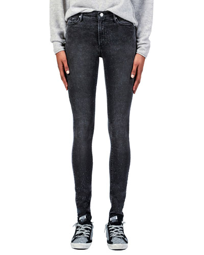 Gisele High-Rise Super Skinny Jeans with Glitter