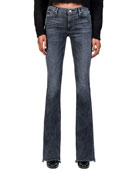 Black Orchid Mia Mid Rise Skinny Flare Jeans