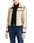 Maison Atia Audrey Reversible Faux Fur-Collar Coat