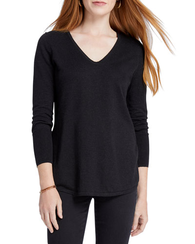 Vital V-Neck Long-Sleeve Top