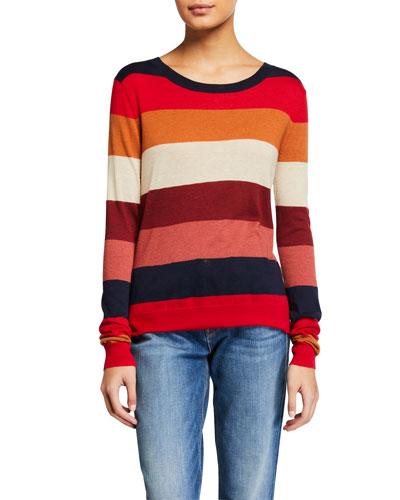 Duke Striped Long-Sleeve Pullover