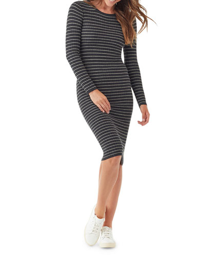 Kinsley Striped Long-Sleeve Dress
