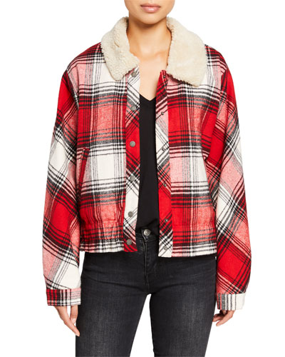 Eastwood Plaid Jacket with Sherpa Collar